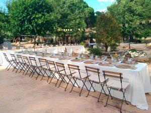 Banquete campero para boda